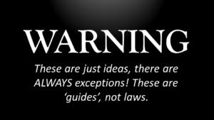 Warning, guides